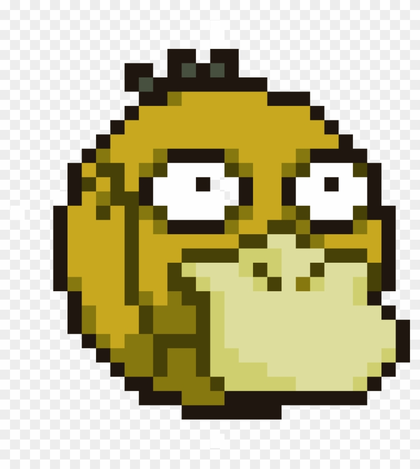 Psyduck Kawaii Pumpkin Pixel Art Hd Png Download