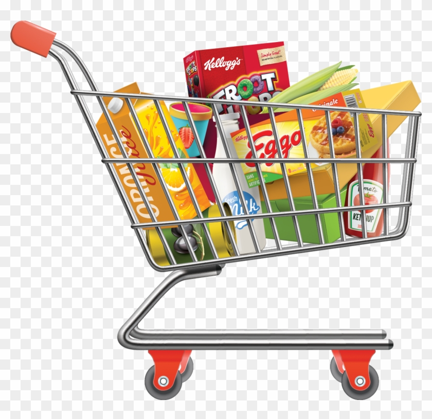 Customer with a shopping cart vector illustration. Clipart   k47829232    Fotosearch