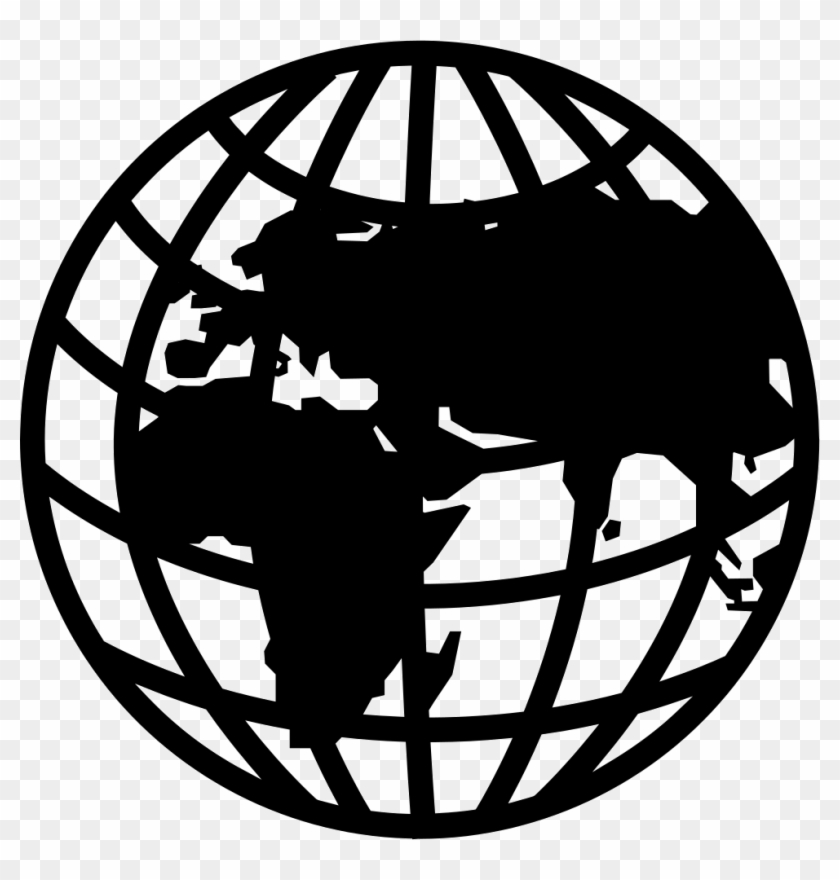 Globe grid. Png file svg transparent