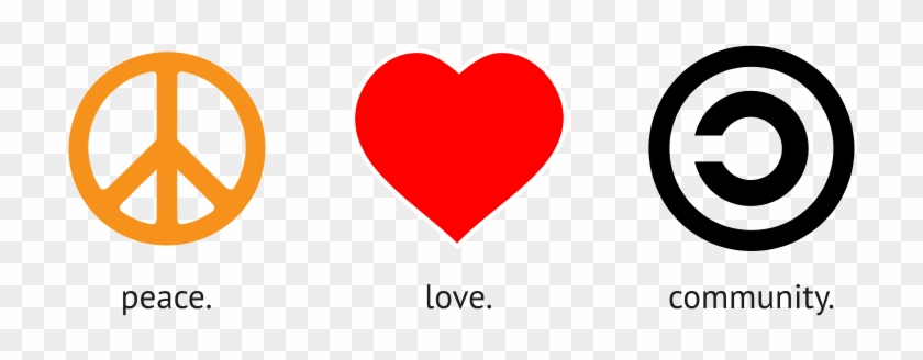 Peace Love Music Symbols, HD Png Download - 800x419(#1471104