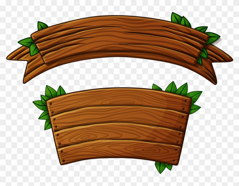 Wood banner. Wooden png banners and