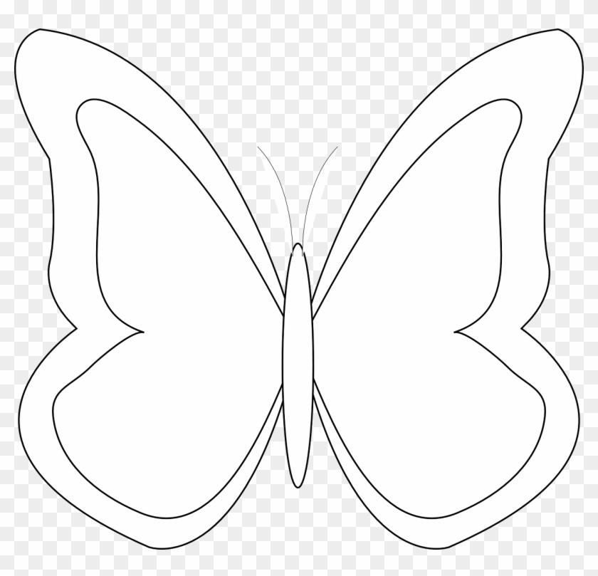 Butterfly outline vector. Moth clipart png