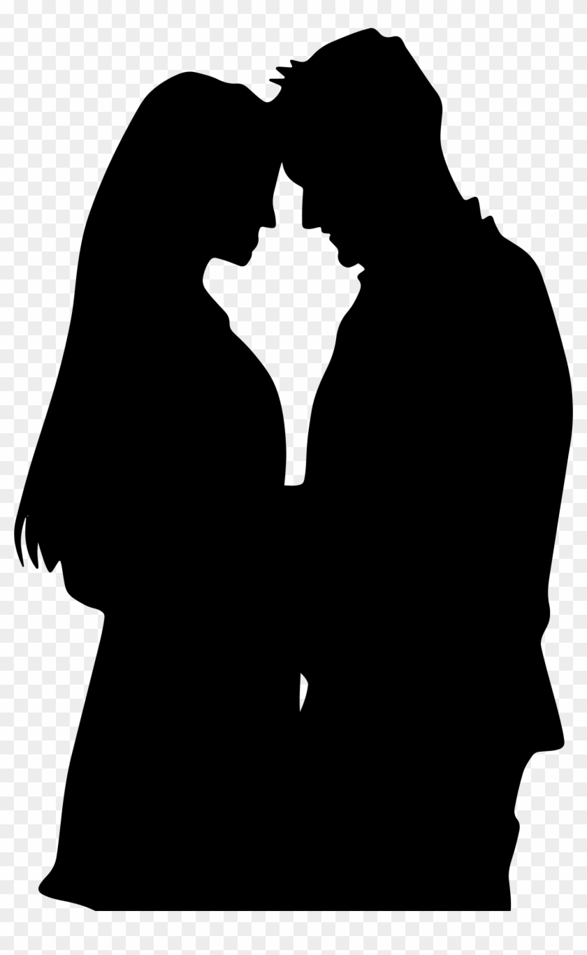 Romance film silhouette couple drawing love couple sketch