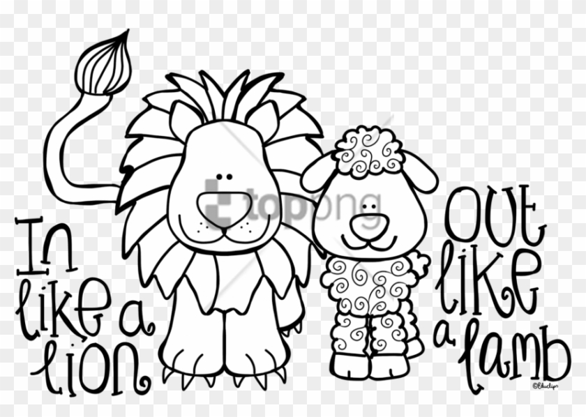 Free Png March Lion Lamb Coloring Pages Png Image With March Poems For Kindergarten Transparent Png 850x565 1495966 Pngfind