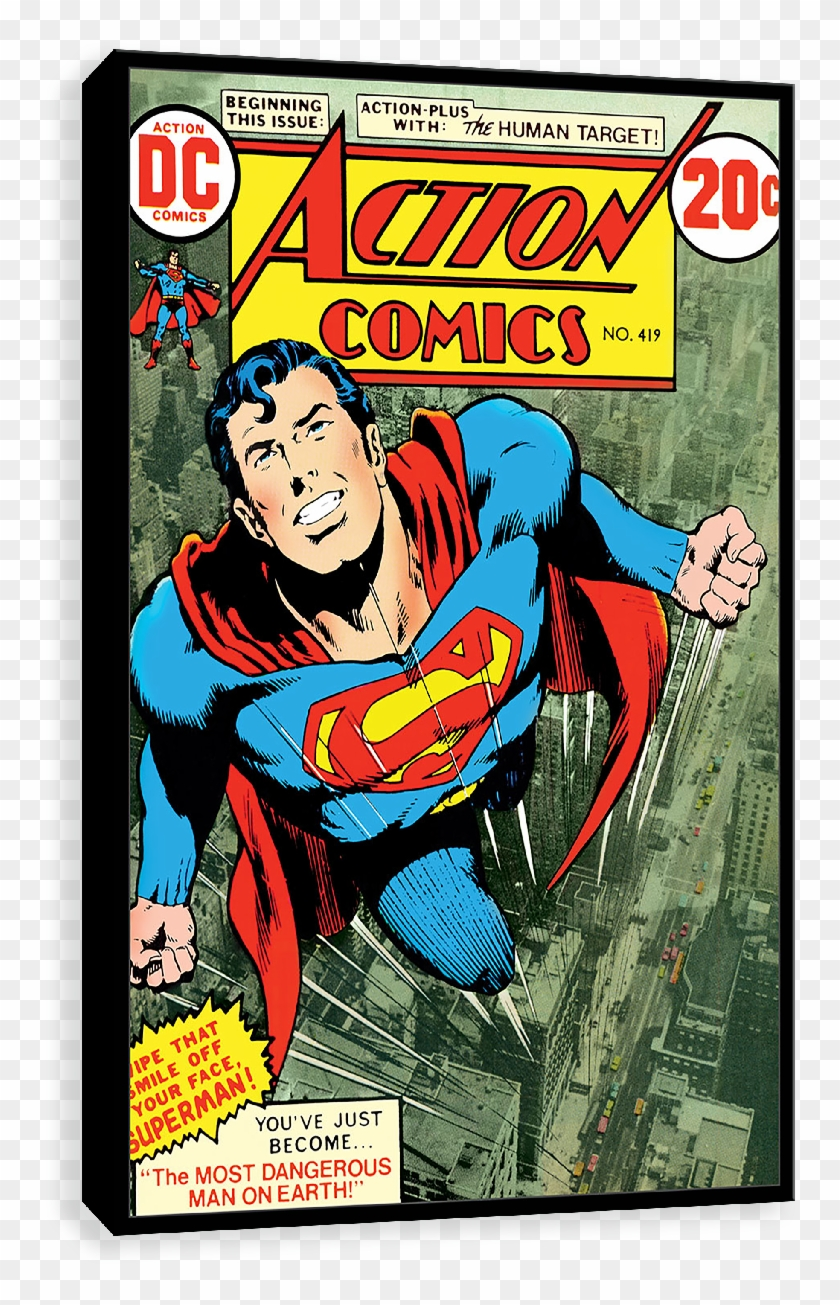 Flying In The Sky - Action Comics 419, HD Png Download