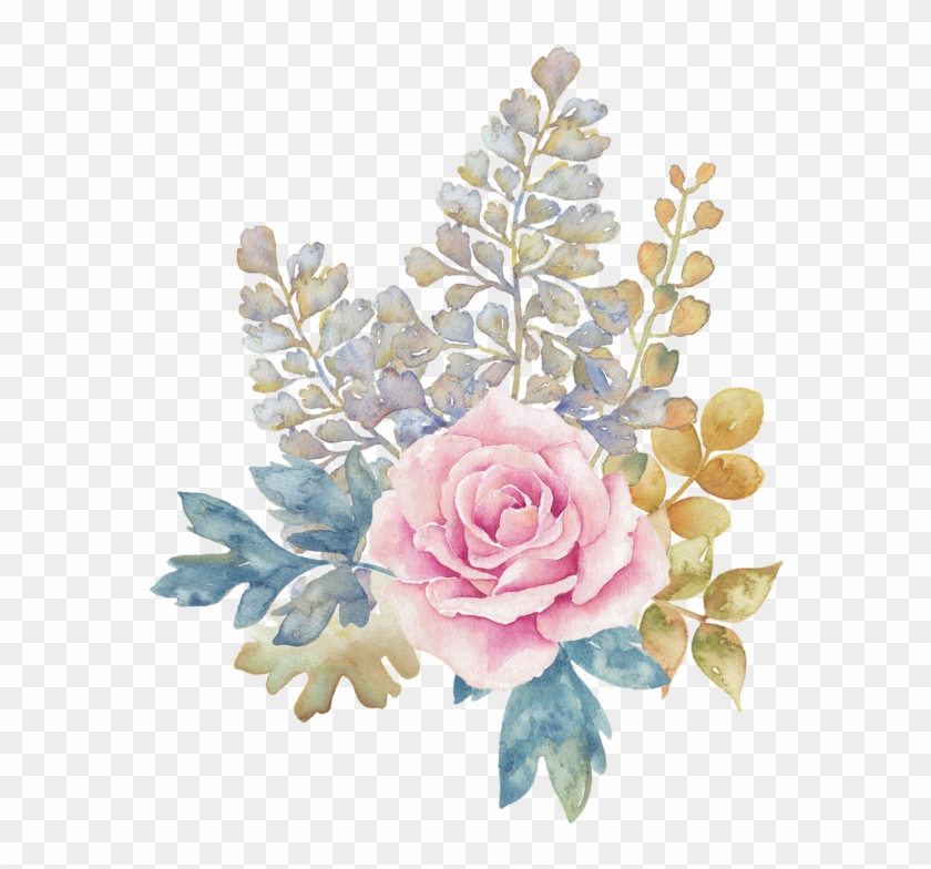 Blue Flower Png Pink Flower Watercolor Png Transparent