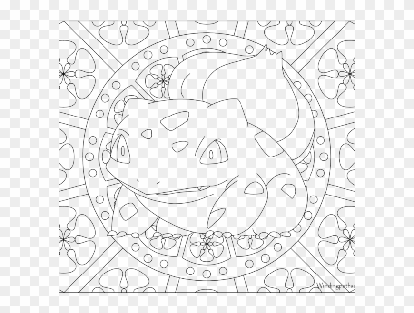 Adult Pokemon Coloring Page Bulbasaur Adult Pokemon Coloring Sheet Hd Png Download 600x600 159573 Pngfind