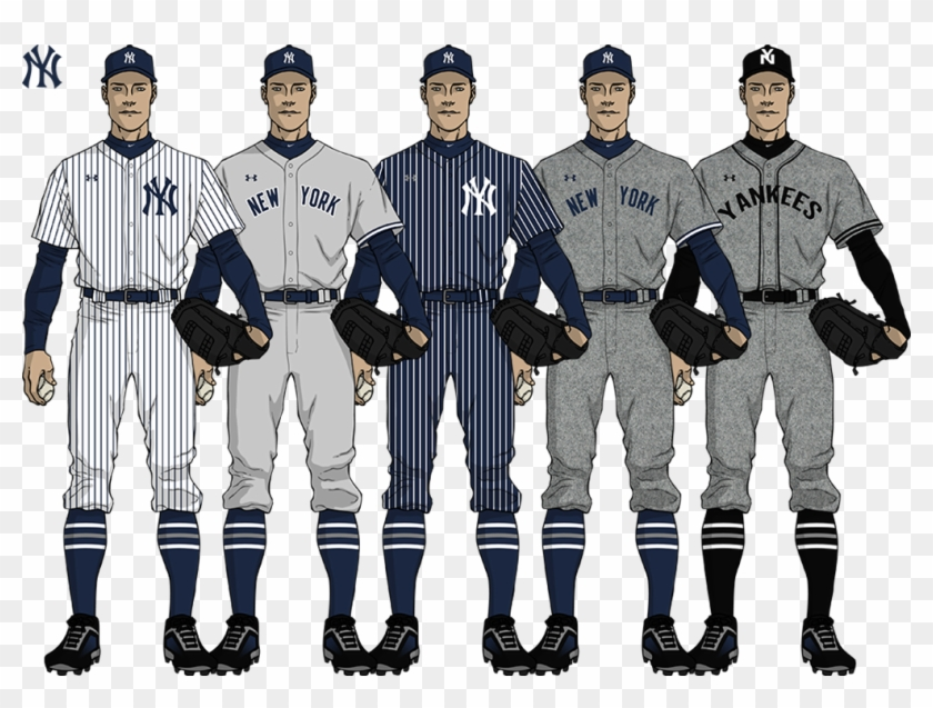 buy popular d05bc f6578 Yankeescollage - Thumb - - Mlb Under Armour Uniforms, HD Png ...
