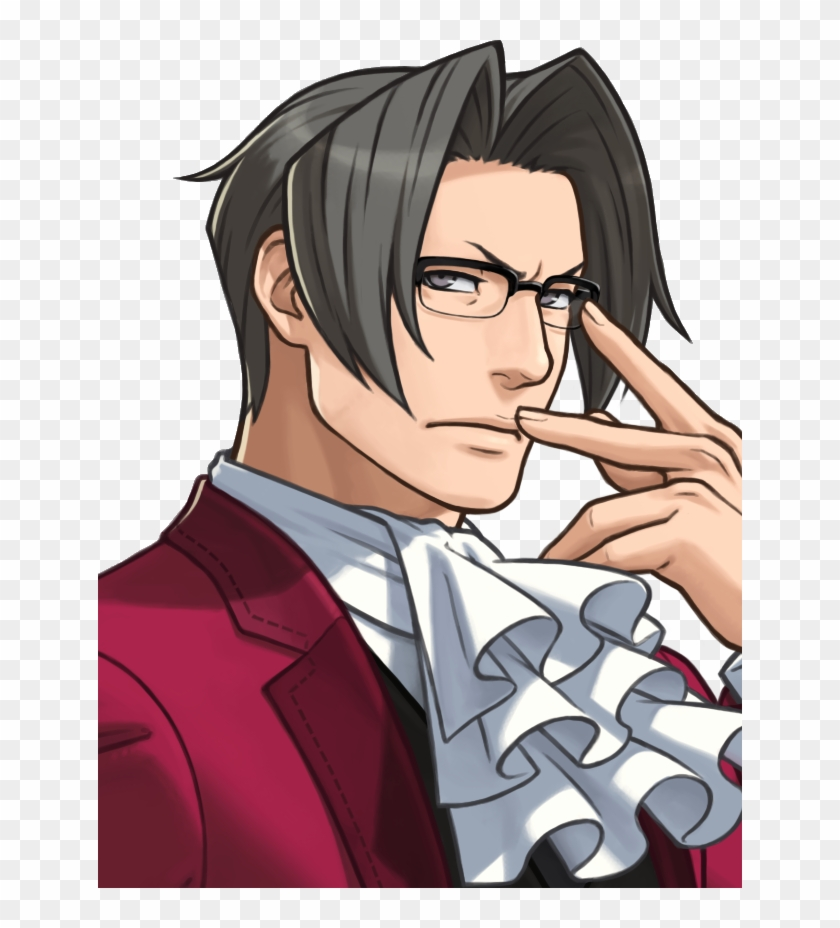 Objection I Dropped The Ace Attorney Anime Yaoi Png Miles