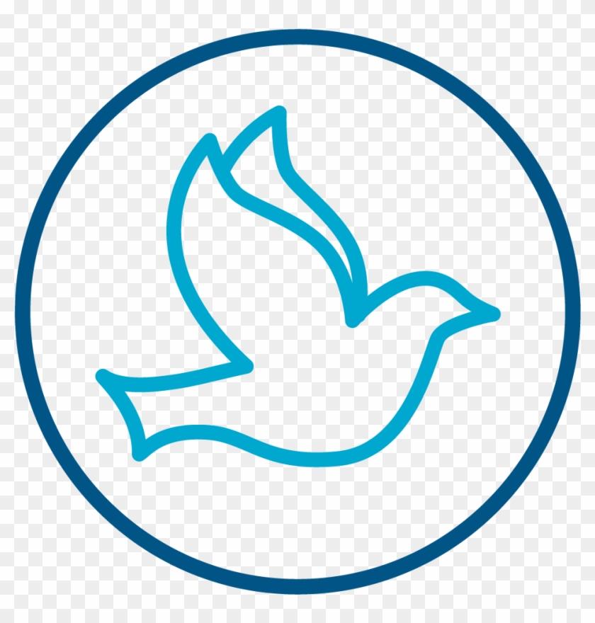 Dove Icon Symbolizing The Holy Spirit - God Peace Symbol, HD Png