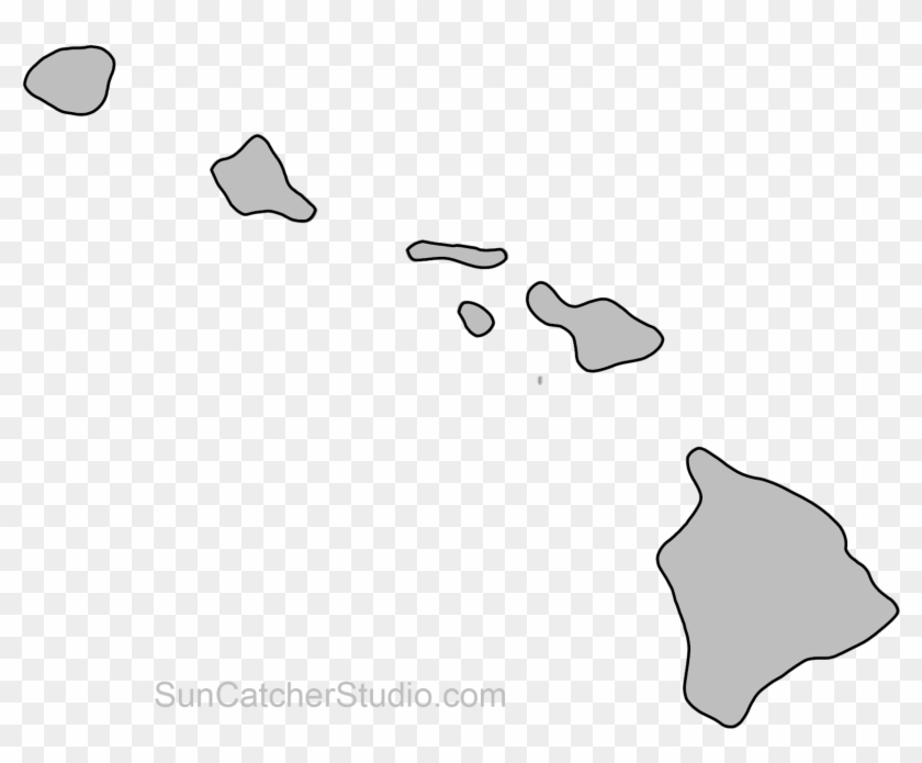 Map Outline, State Outline, Hawaii Crafts, Us State - Hawaii ...