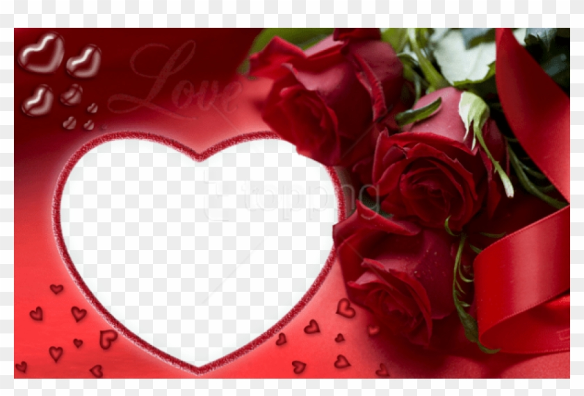 Free Png Red Roses And Heart Love Png Frame Background