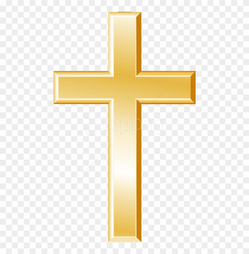 Cross outline gold. Free png download christian