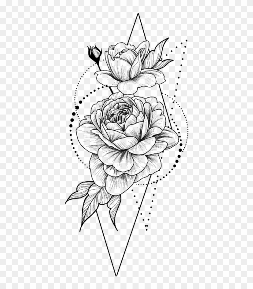 Stickers Png Blackandwhite Flower Flowers Rose Tatouage