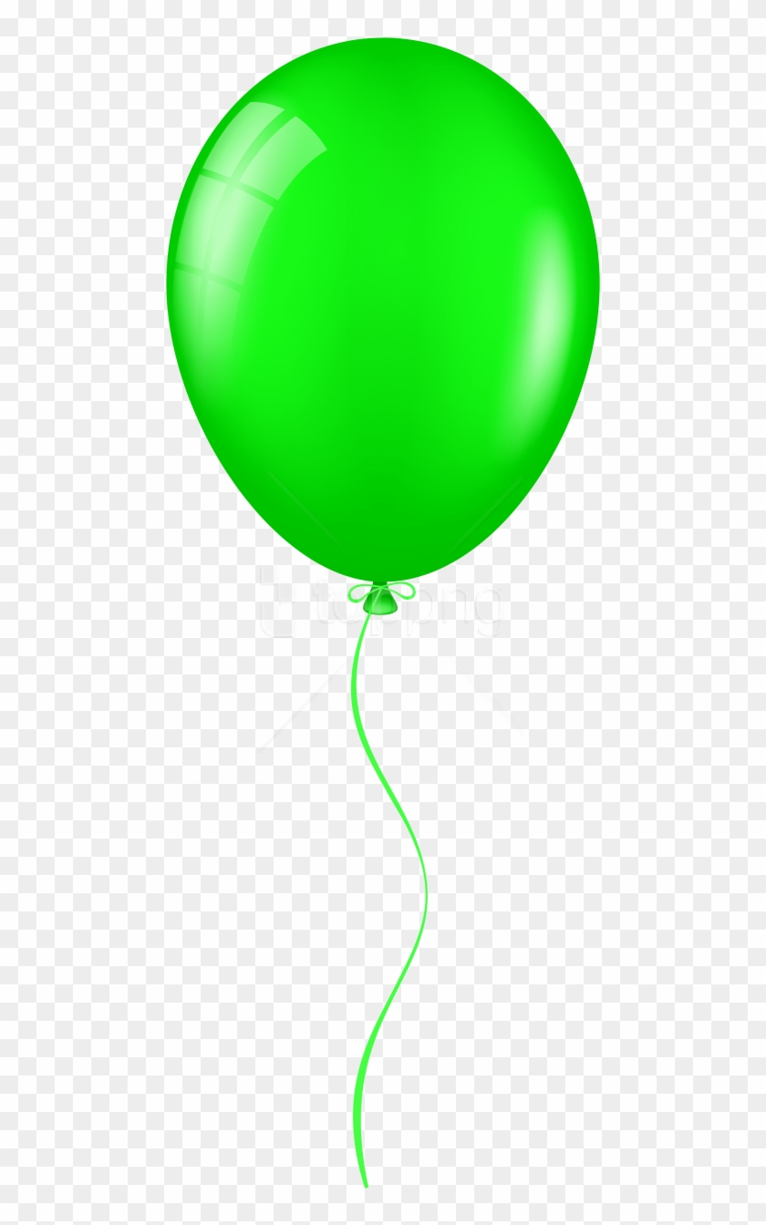 Balloon green. Free png download clipart