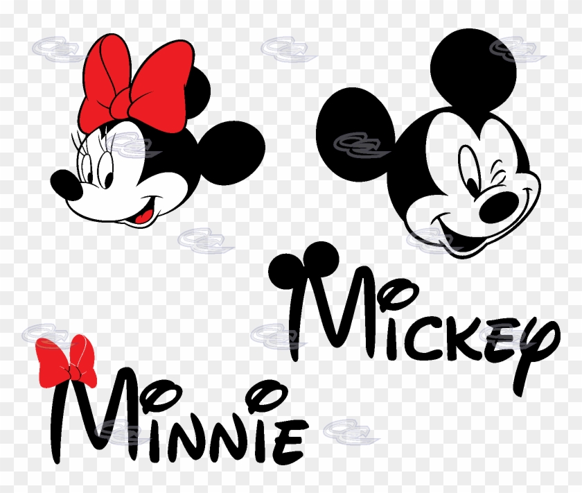 Minnie Mouse Face Logo Mickey And Minnie Name Hd Png