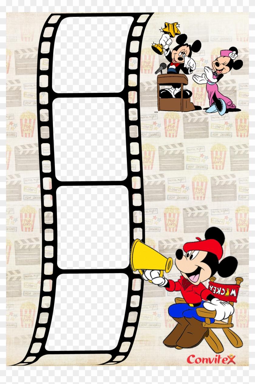 Convite Ou Frame Mickey Cinema Convitex Minnie Mouse