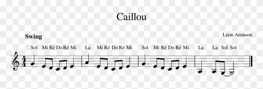 Caillou Piano Sheet Music, HD Png Download - 850x1100