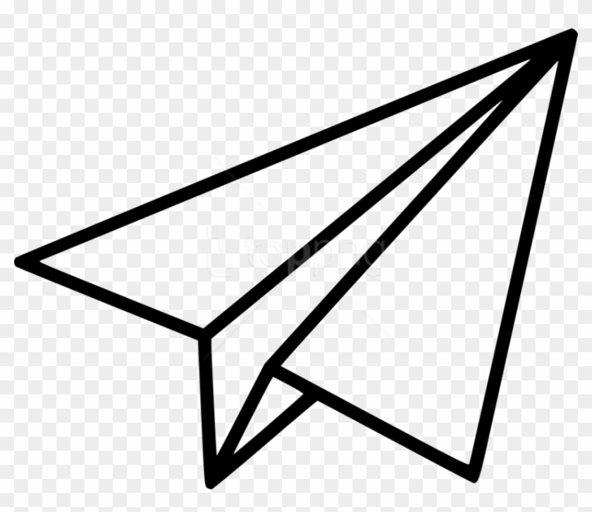 Free Png Download Black Shape Paper Plane Clipart Png Paper