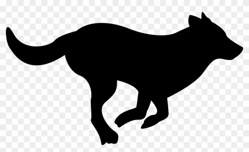Running Dog Silhouette Comments Dog Running Clipart Black And