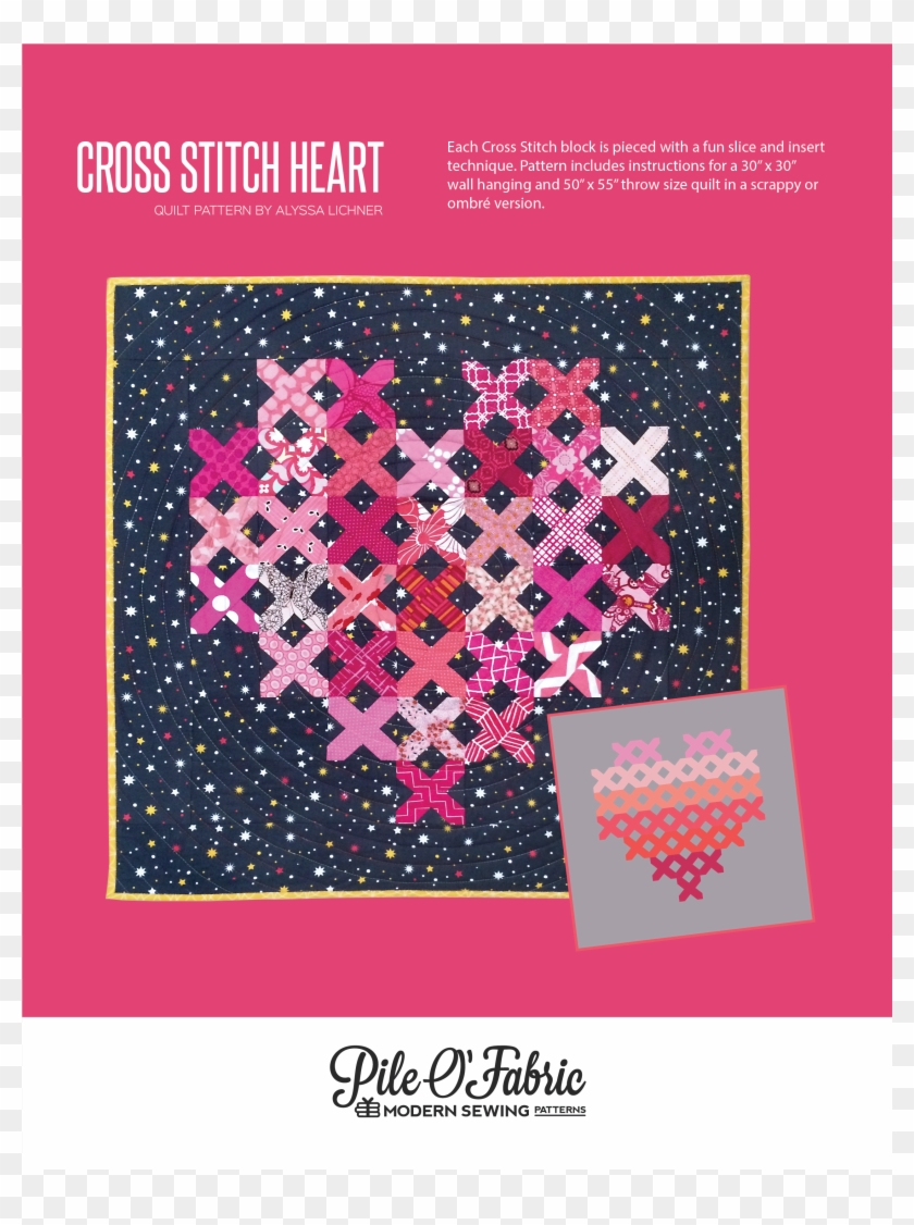 The Cross Stitch Heart Quilt Is A Fun Quilt That Uses - Free