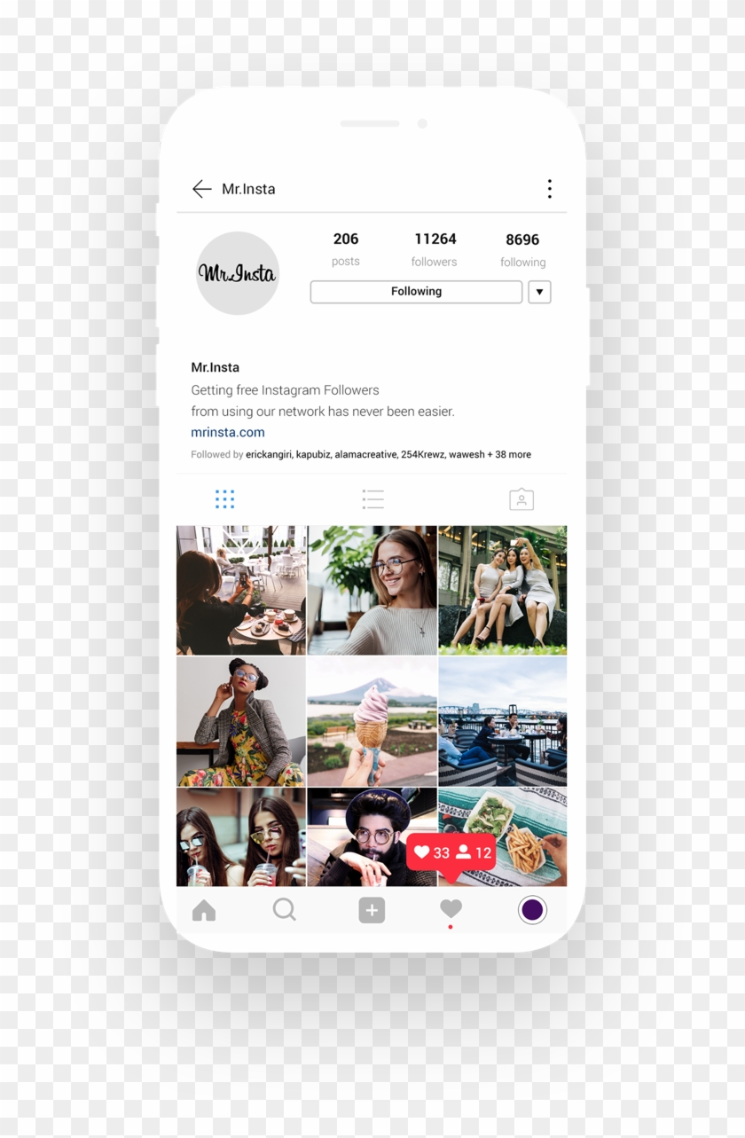 Get Free Instagram Followers & Likes At Mr - Instagram Likes, HD Png
