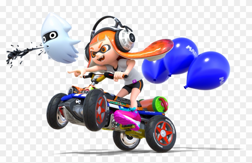 Bowser Jr Mario Kart 8 Deluxe Inkling Girl Hd Png Download 634x599 1566639 Pngfind