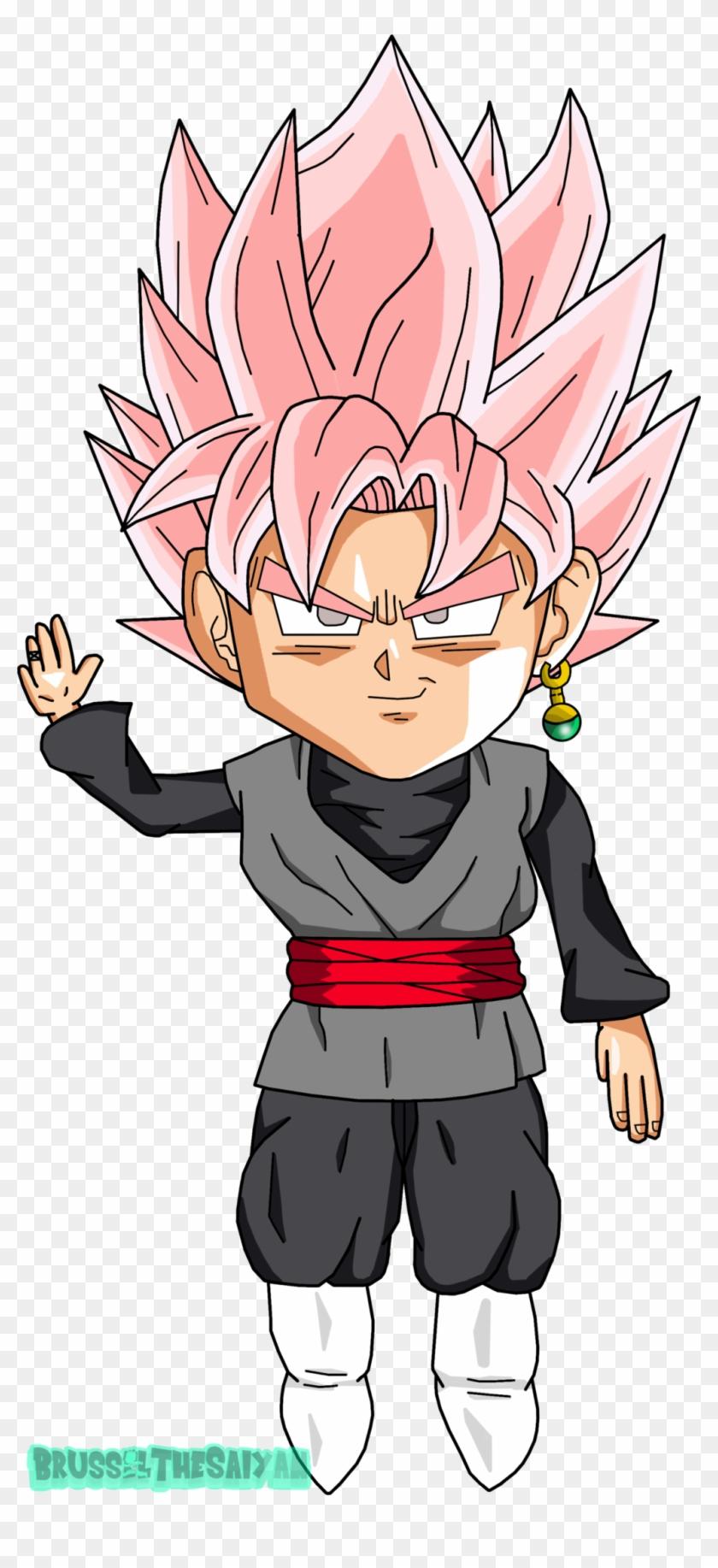 Goku Clipart Late Black Goku Ssj Rose Chibi Hd Png
