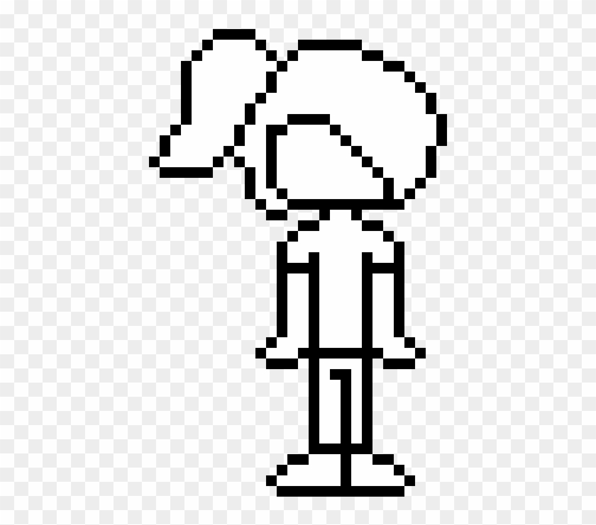 Ponytail Template - Lucas Mother 3 Pixel Art, HD Png
