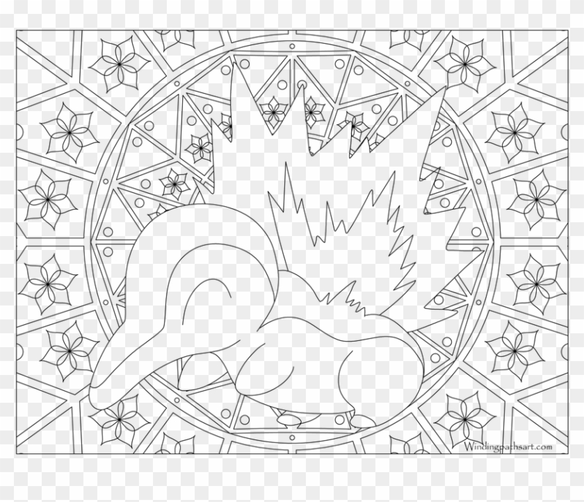 #155 Cyndaquil Pokemon Coloring Page - Beedrill Pokemon ...