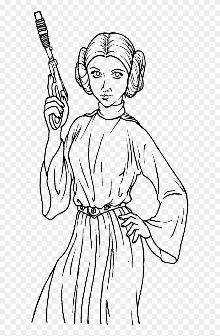 Princess Leia Coloring Sheets Princess Leia Coloring Pages