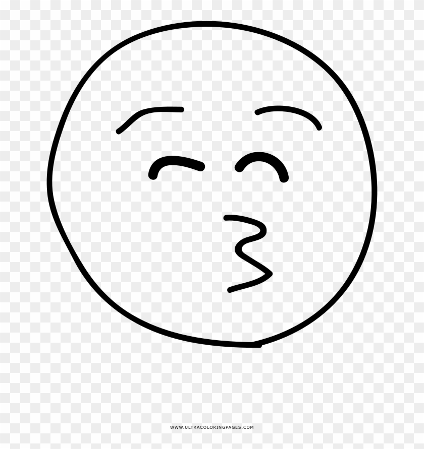 Kiss Emoji Coloring Page Line Art Hd Png Download 657x811 1585015 Pngfind