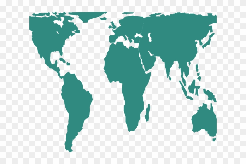 World Map Clipart Vector - Peters Projection Map, HD Png ...
