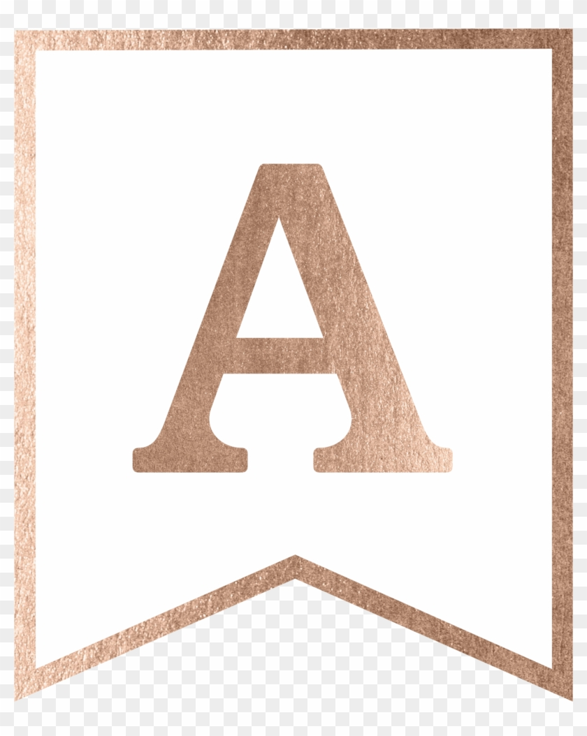 Rose Gold Banner Template Free Printable, HD Png Download Pertaining To Free Letter Templates For Banners