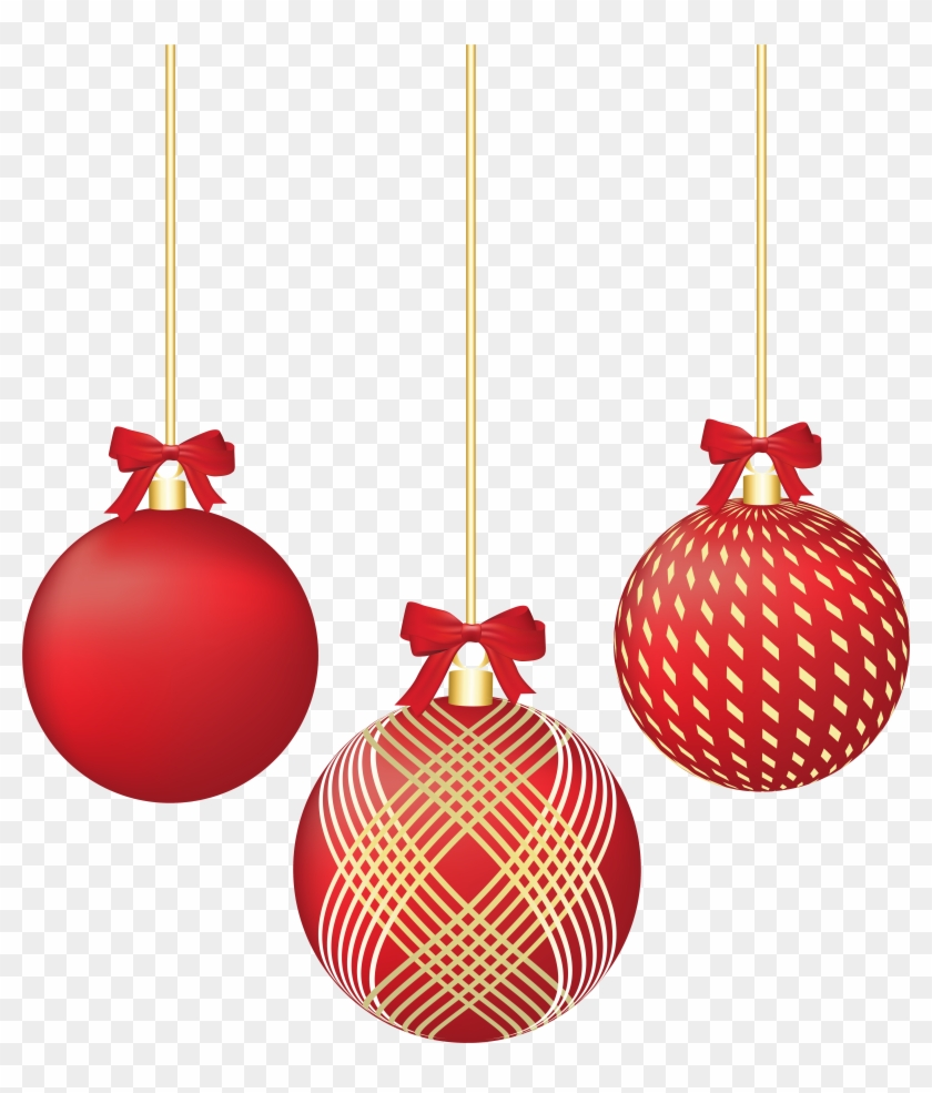 Png Christmas Decorations.Christmas Red Ornaments Png Clip Art Image Red Christmas