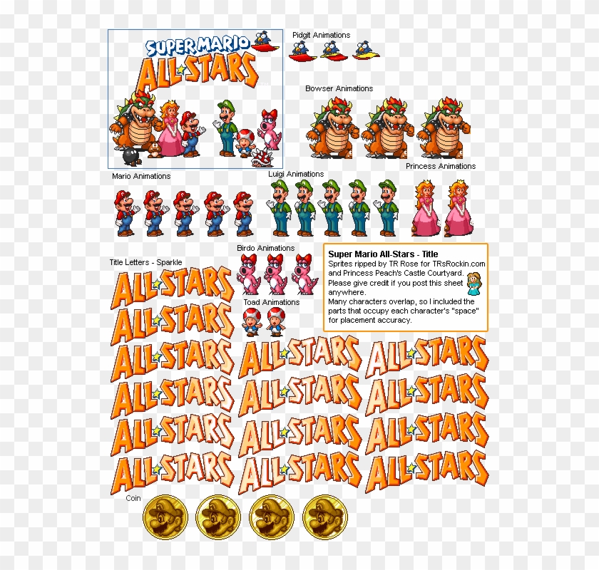 Allstars - Super Mario All Stars Title, HD Png Download
