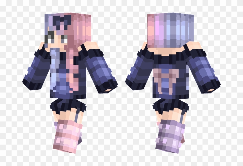 Minecraft Skins Minecraft Girl Skin Bow Hd Png Download 716x514 1606952 Pngfind
