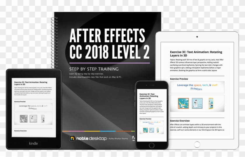After Effects Level2 Cc2018 2x - Books Photoshop Cc, HD Png