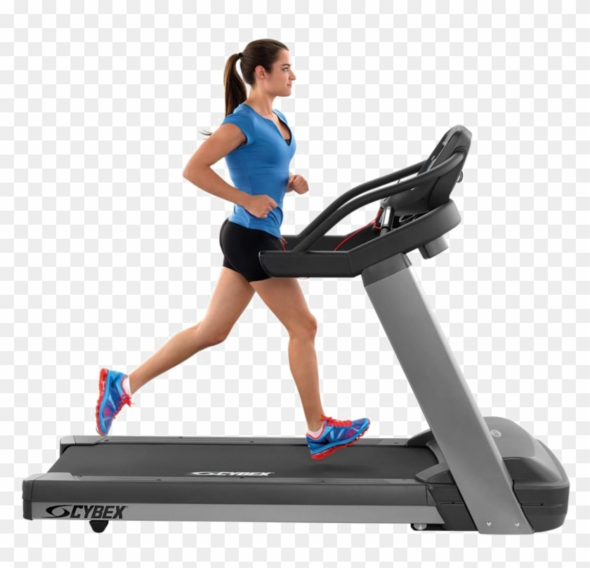 Gym Machine Background Png - Exercise On Treadmill