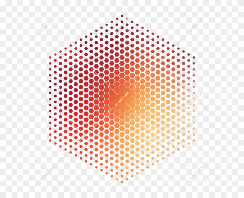 Halftone Geometric Beehive - Transparent Background Dots Transparent