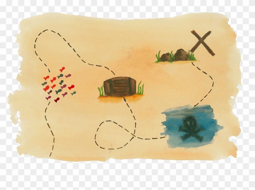 Cartoon Treasure Map Png , Png Download, Transparent Png - 3440x2415 on