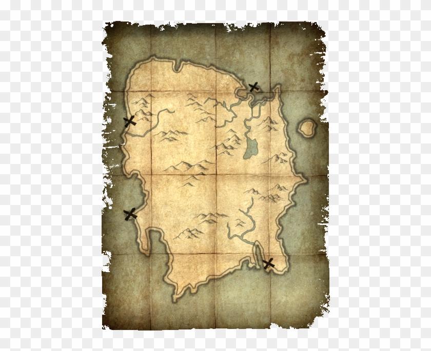 brand Treasure Map - Скайрим Карта Печати Смерти, on