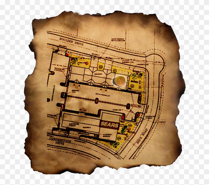 Treasure Map - Plan, HD Png Download - 667x671(#1622640) - PngFind on