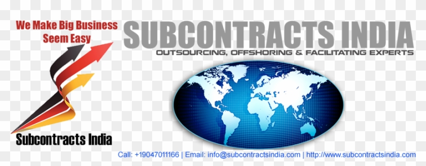 Subcontracts India Is Among India's Top Outsourcing - World Map, HD