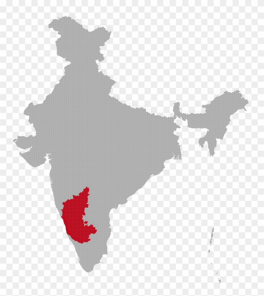 Karnataka Map Image - Kerala In India Map, HD Png Download - 786x894 on world map india agra, world map iran tehran, world map pakistan lahore,