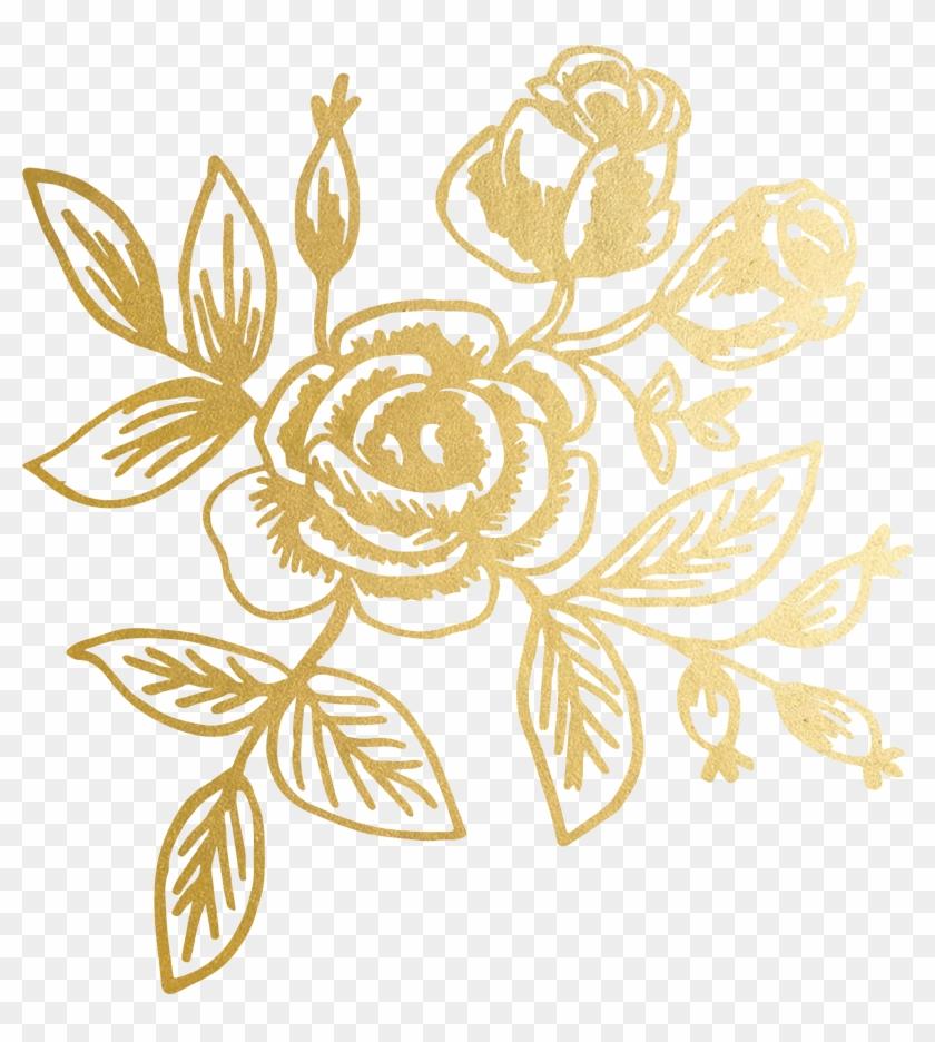 Transparent Gold Floral Pattern , Png Download, Png Download