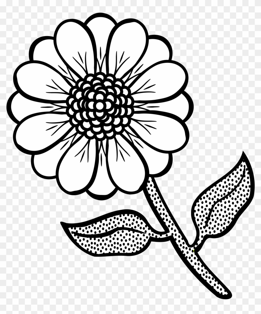 Wildflowers Drawing Coloring Pages - Black And White Clipart ...