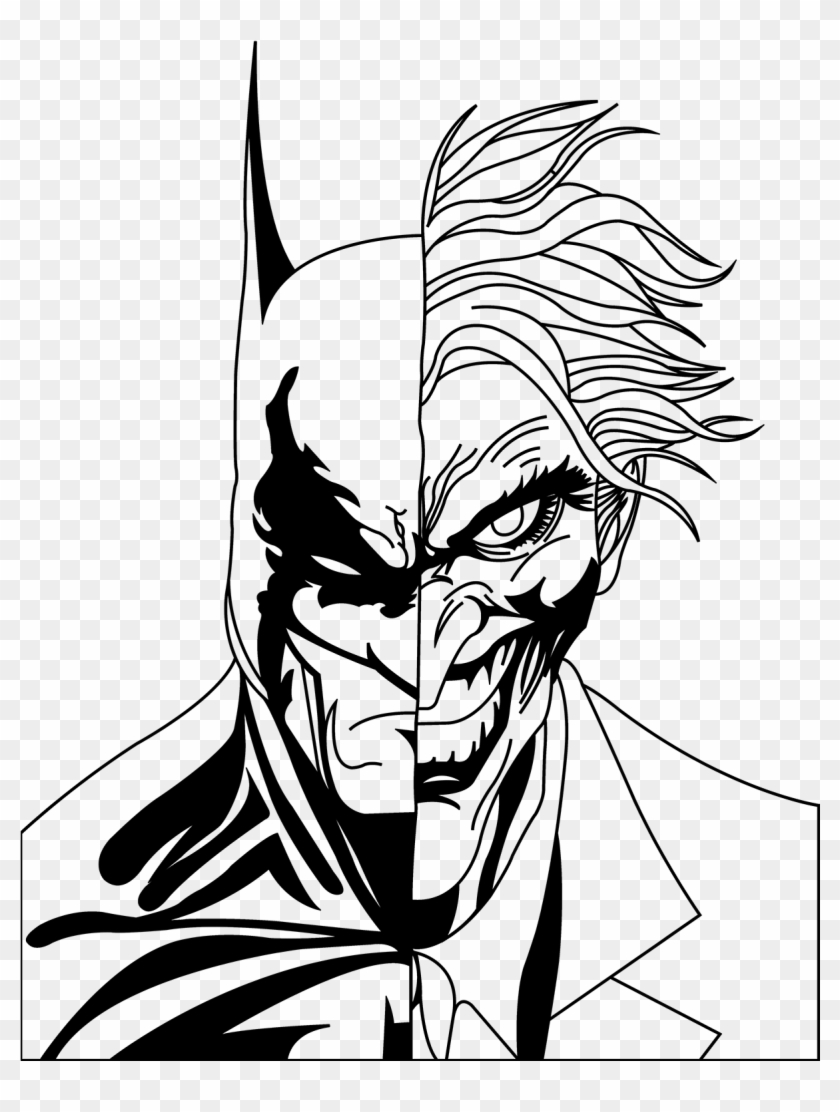 1200 X 1582 3 Batman And Joker Face Drawing Hd Png Download 1200x1582 1650423 Pngfind