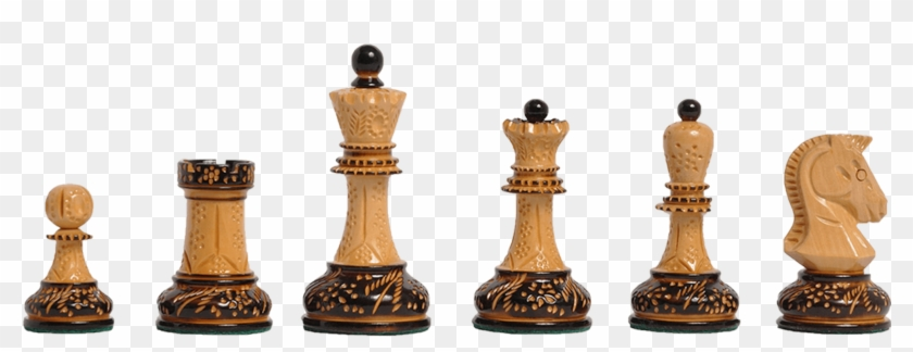 Burnt Boxwood And Natural Boxwood - Dgt Chess Pieces, HD Png