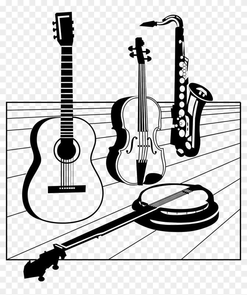 Classical Guitar Silhouette At Getdrawings - Music
